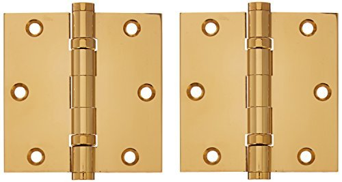 Deltana CSB35BB Ball Bearings Solid Brass 3 1/2-Inch x 3 1/2-Inch Square Hinge by Deltana - Bearing Square Deltana Hinge