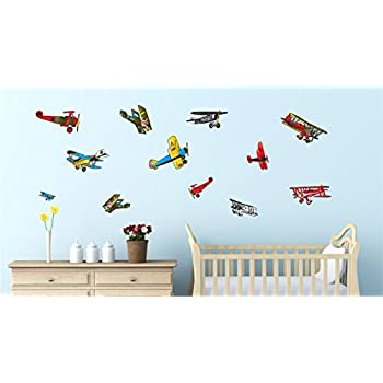 Amazon Com Vintage Airplane Wall Stickers Decals Air Plane Wall