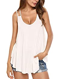 Women's Flowy V Neck Casual Sexy Summer Tank Top