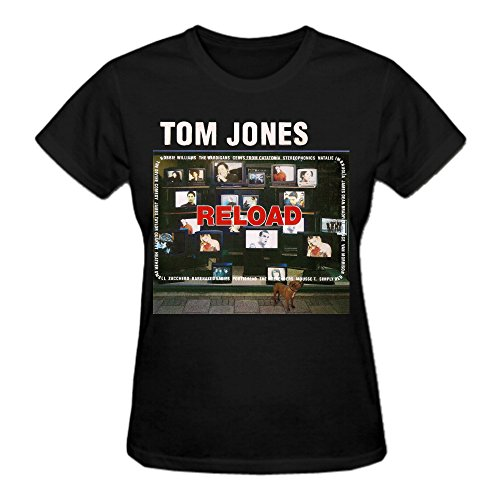 Tom Jones Reload T Shirts For Women Black