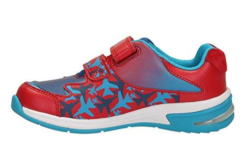 Clarks Piper Fun Inf - Zapatillas para correr en montaña de Piel para niño Gris gris Rojo - rojo