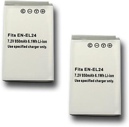 【JC】 2個セット Nikon/ニコン EN-EL24 互換バッテリー Nikon1 J5 対応