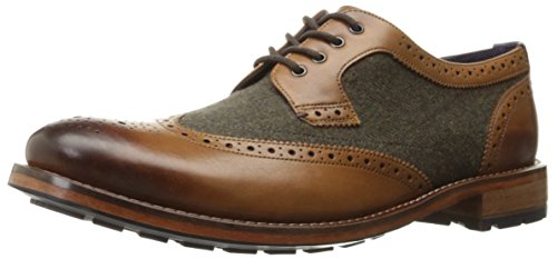 Ted Baker Men's Cassiuss 4 Lthr Am Oxford, Tan/Brown, 9.5 M US