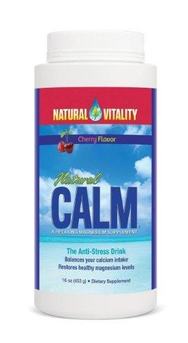 Vitalité naturelle de magnésium naturel calme, poudre, Cerise 16 oz