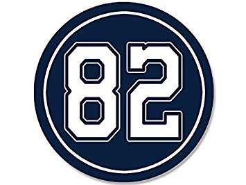 MAGNET ROUND #82 Jason Witten Cowboys Colors Magnet(dallas number 82) Size: 4 x 4 inch