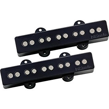 DiMarzio DP552BK Area J 5 Pair 5 String Bass Pickup Black w/Bonus RIS Pick (x1) 663334035218