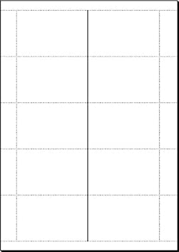 auf DIN A4-Bogen 75 St/ück = 15 Blatt Sigel DP838 Klapp-Visitenkarten 170x55 mm 200 g hochwei/ß beidseitig bedruckbar