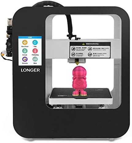 LONGER Cube 2 Mini 3D Printer for Kids, 99% Pre-Assembled Entry-Level Printer with Touch Screen, Resume Printing, Removable Magnetic Build Plate