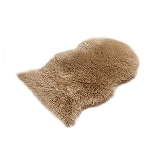 Mome Newest Foot CarpetHome Rugs Non Slip Mats Hairy Soft Fluffy Faux Fur Carpet Mat Bedroom Living Room Mats - 7 Colors - 60x90CM (Brown)