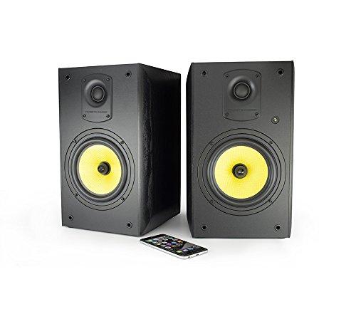 Thonet and Vander Kugel Powered Studio Monitors with Bluetooth (700 Peak Watts) Bookshelf Speakers with Integrated Bi-Amp (German Engineered) 140W RMS