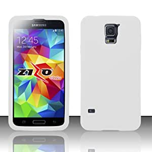 Silicone White Soft Cover Gel Skin Case For Samsung Galaxy S5 + Free Screen Protector (Accessorys4Less)