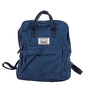 LuckyZ Womens Casual Style Lightweight Canvas Backpack School Bag Travel Daypack Medium Handbag Purse