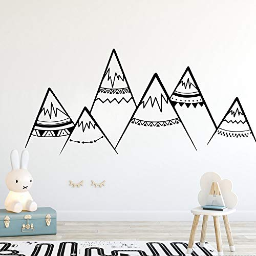 Nordic Style Mountain Removable Wall Decor for Boys Kids Babys Rooms Decoration Wall Decals Murals l2 58x127cm