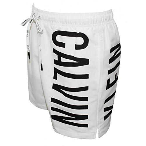 Calvin Klein Intense Power Casual Men's Swim Shorts, White Large