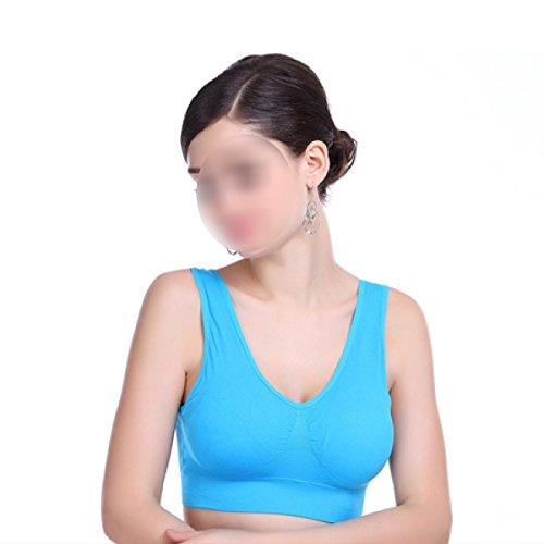 Chaleco De La Aptitud De Aeróbicos Sujetador Deportivo Yoga Correr De Las Mujeres Blue