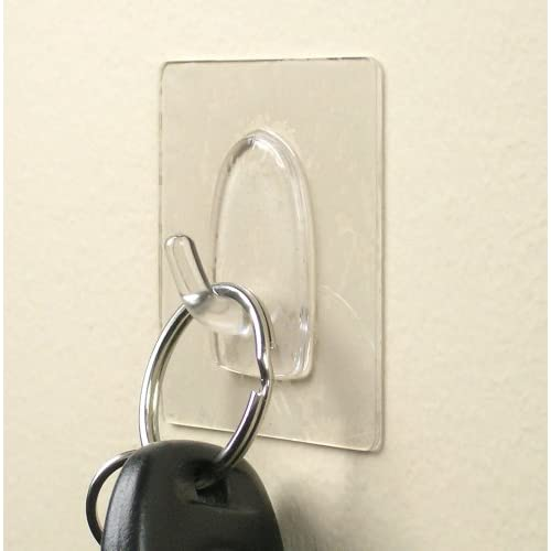 Delicate Wall Hooks Adhesive Pack Of 4 Clear Bathroom