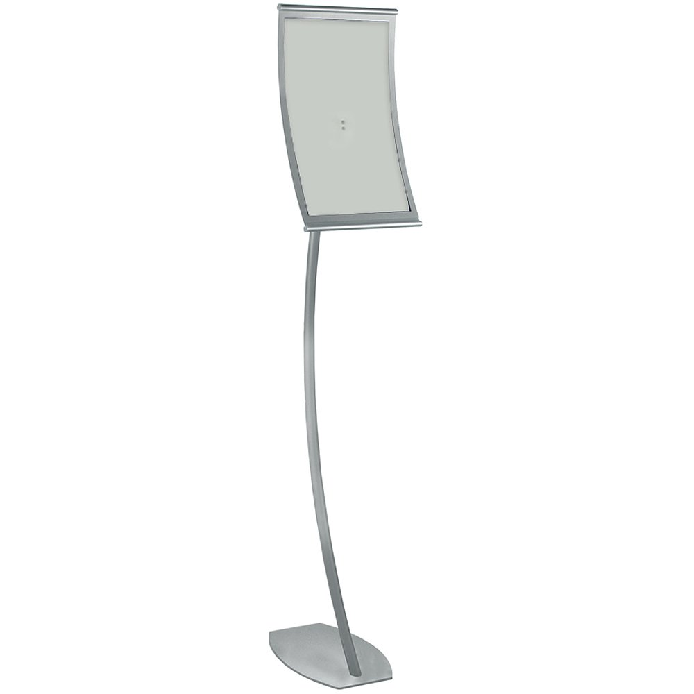 Azar Displays 300888 11-Inch W by 17-Inch H Curved Metal Frame Floor Stand, 59-Inch H