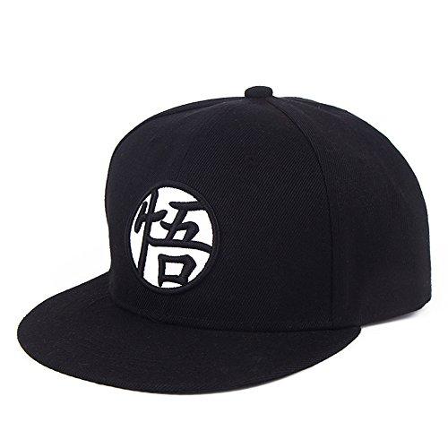 PopCrew Hat for Dragonball Dragon Ball Z DBZ Anime Fan Cosplay Costume Snapback Cap (Goku Black.) ()