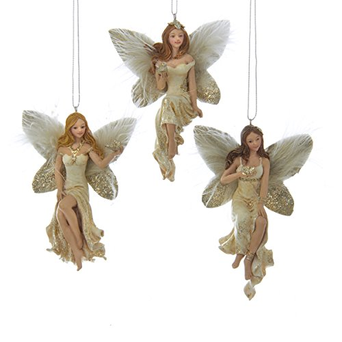 Christmas angels ornaments by Kurt Adler set of 3 winged designs