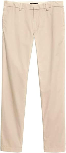 Banana Republic Emerson Stretch Straight Fit Mens Chinos Casual Pants Khakis New