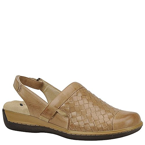 SoftWalk Women's Salina Woven Cement Burnished Veg Kid Leather 9 M by SoftWalk