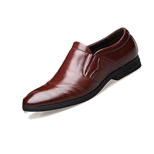 Casual Business Scarpe da Uomo Bean Pigro Scarpe da Rete Traspiranti Scarpe Oxford A Punta Rotonda Fondo Morbido Brown