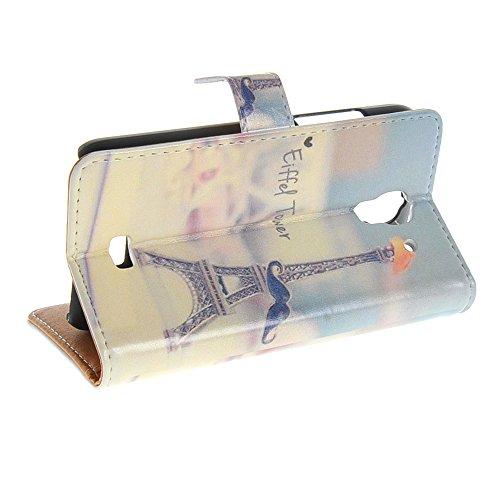 MEIRISHUN Caja del Teléfono Celular Caso Funda ,Coloridol Pintura Patten Tapa abierta Lujo Protector Wallet Case Folio Cover with Card Cash & Párese Función para Huawei Y360 [008] 003