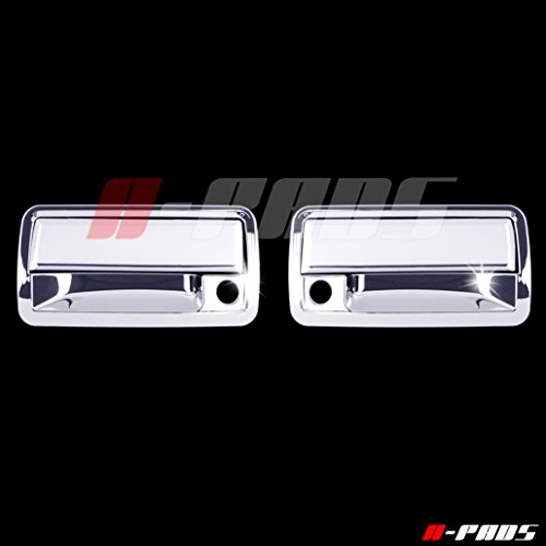 A-PADS 2 Chrome Door Handle Covers for Chevy S10 BLAZER 1998-2006 -- WITH Passenger Keyhole