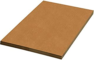 """product image for Partners Brand PSP4860 Corrugated Sheets, 48"""" x 60"""", Kraft (Pack of 5)"""