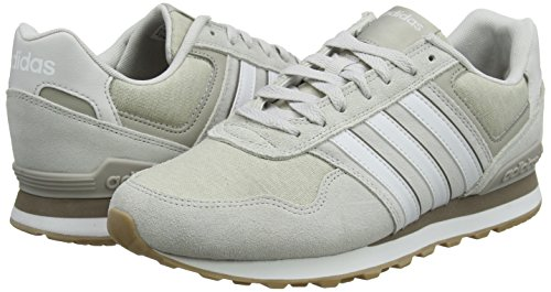 Adidas White Hombre S16 Light White Brown S16 10k de Brown F17 Grey F17 Grey Gris Zapatillas para Crystal Crystal Gimnasia Light One One PqpPxrA