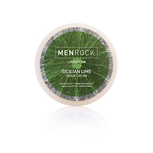 Shaving Soft Limes Cream - Men Rock Sicilian Lime Shave Cream – Softly Scented Shaving Cream for a Comfortable Shave – Premium Quality Men's Moisturizing Shave Cream for Up to 50 Shaves, 3.4 Oz. / 100ml