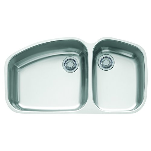 Franke Vision 38'' x 20 7/8'' x 9 1/16'' 18 Gauge Undermount Dual Bowl Stainless Steel Kitchen Sink by Franke