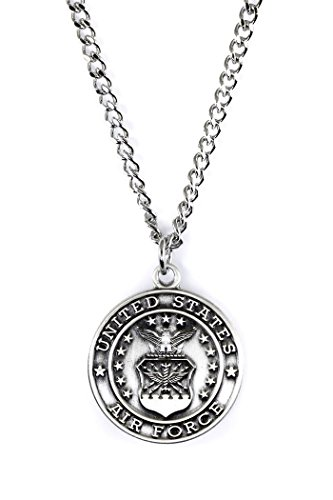Military Medals Sterling Silver Saint Christopher Protect Me, 3/4 Inch (US Air Force)