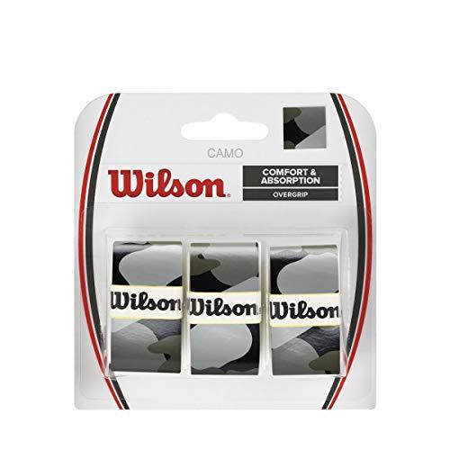 Wilson Pro Tennis Racquet Over Grip, Pack of 3 (Black Camo) from Wilson
