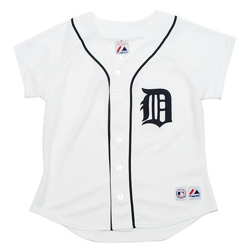 Replica Generic Home Jersey - Detroit Tigers Ladies' Replica Home Jersey, White, Ladies' XL