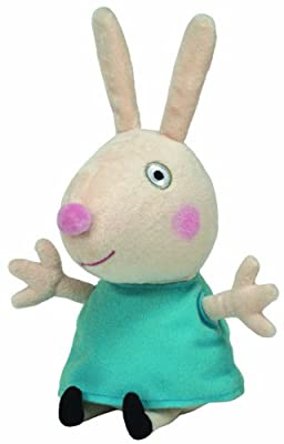 Amazon.com: Ty Peppa Pig UK Exclusive Beanie Baby Rebecca Rabbit: Toys & Games