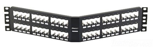 Panduit CPA48BLY Angled 48-Port Patch Panel, Black by Panduit