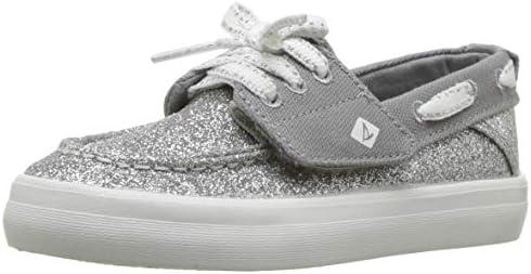 Sperry Girls Sp-Crest Resort White//Silver Size 4 M NEW