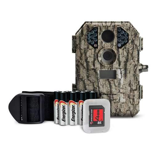 Package Cam (Stealth Cam 7 Megapixel Compact Scouting Camera with Batteries and SD Card, Camouflage)