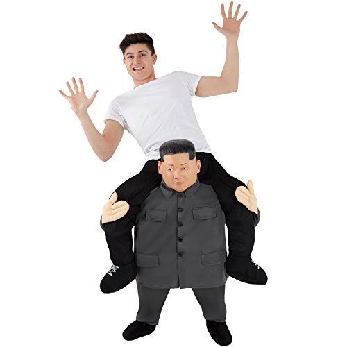 Morph Unisex Piggy Back Esteemed Leader Kim Jong Un Piggyback Costume - With Stuff Your Own Legs