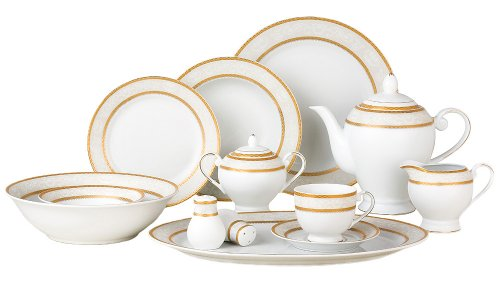 Lorenzo Amelia 57-Piece Dinnerware Set, Service for 8
