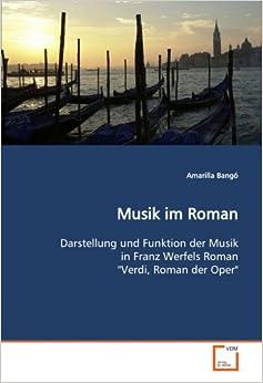 Musik im Roman: Darstellung und Funktion der Musik in Franz Werfels Roman 'Verdi, Roman der Oper'