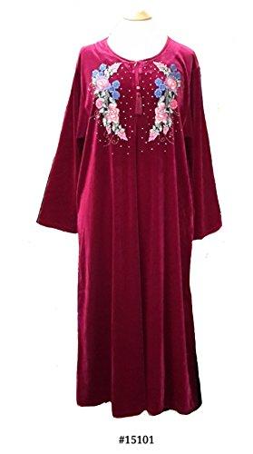 Fionalissa - Robe - Manches Longues - Femme Rouge Bordeaux