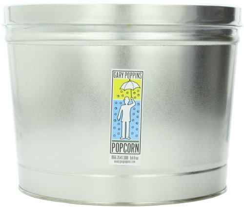 Gary Poppins Popcorn - Gourmet Handcrafted Flavored Popcorn, Caramel Cheddar Creamery Butter, 2 Gallon Tin (Divided)