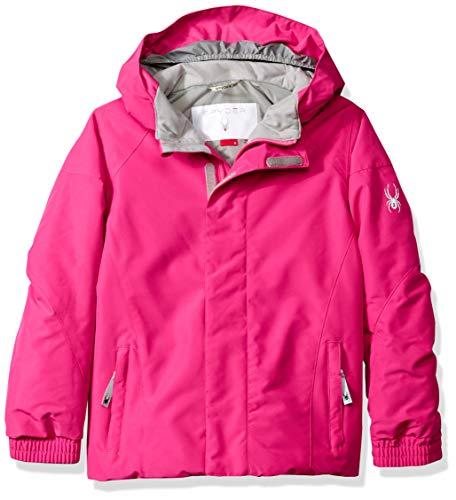 (Spyder Girls' Bitsy Charm Ski Jacket, Taffy Pink/Taffy Pink, Size 7)
