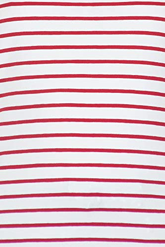 T Em7216 Magli Ottod'ame shirt Eff estate 2019 Primavera rosso Bianco Donna UdPndq