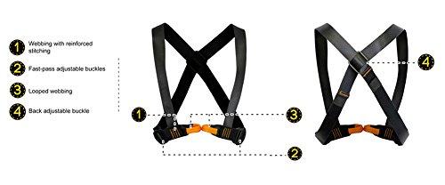 Fusion Climb Tyche Chest Rescue Zipline Harness 23kN M L Black