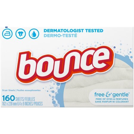 Bounce Fabric Softener Dryer Sheets, Free & Gentle, 160 Count - 2 Pack by Bounce (Image #1)