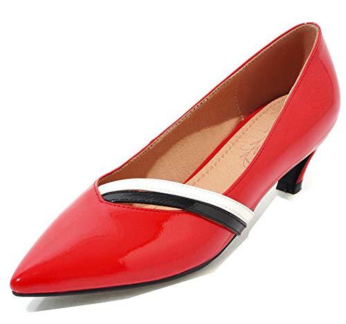Talon Fille Femme Escarpins Rouge Danse Aisun Bout Mode Pointu Moyen O7IFxBxqAw