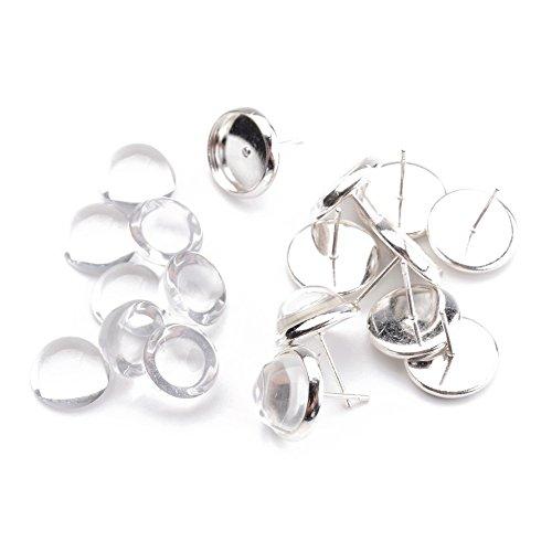 Pandahall Cabochons Findings Earrings Cadmium